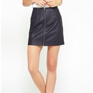 a8d9a8296dc4 *NWT* Gentle Fawn Faux Leather Skirt Sz 2